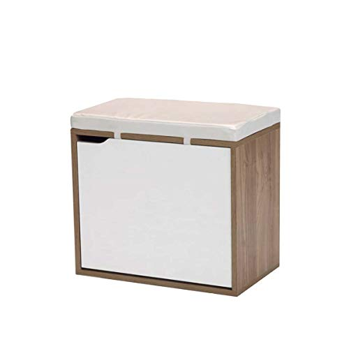Kit Closet 41000 Banco Zapatero, Cerezo, Blanco, Rosa Claro