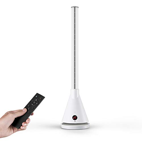 U ULTTY Turmventilator mit Air Multiplier Technologie,leise Ventilator und Heizlüfter mit Fernbedienung,Oszillation und Timer,9+2 Geschwindigkeitsstufen Lüfter,Weiß