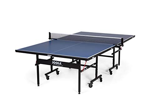 JOOLA Inside - Professional MDF Indoor Table Tennis Table with Quick Clamp Ping Pong Net and Post Set - 10 Minute Easy Assembly - USATT Approved - Ping Pong Table with Single Player Playback Mode, 15mm