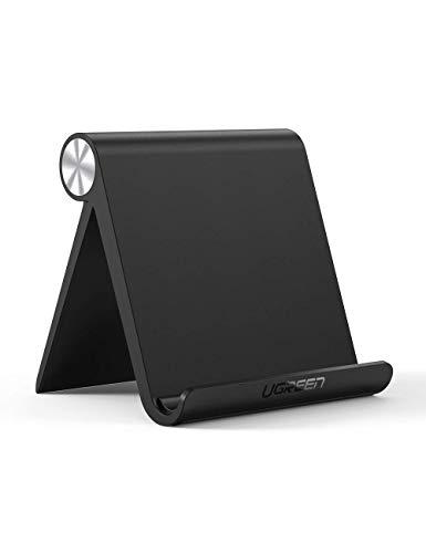UGREEN Support Tablette Réglable iPad Stand Pliable Compatible avec iPad Pro 2021 iPad Air iPad Mini Galaxy Tab A2019 S7 S6 S5e Mediapad iPhone 13 Pro Max 12 11 Se X 8 Galaxy S21 Ultra S20 (Noir)