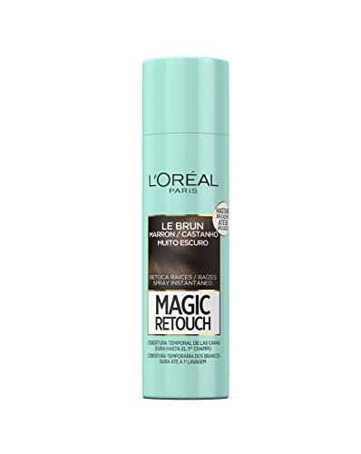 L'Oreal Paris Magic Retouch Spray Retoca Raíces y Canas, Tono Castaño Oscuro - 150 ml