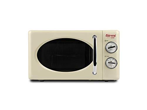 Girmi FM2105 Forno Microonde Combinato Vintage Design, 20 Lt, 700+800W, Crema
