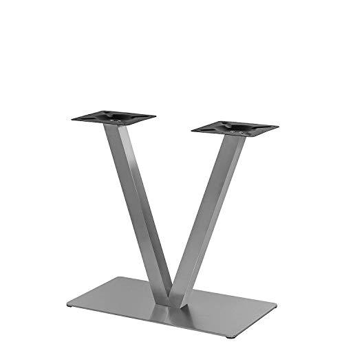 """Tischgestell Edelstahl Modell\""""V\"""" Untergestell Tischfuß Bistrotisch Gastro Tisch"""