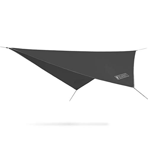 Bear Butt Rain Fly Easy Set Up Portable Hammock Tarp Shelter - Made of Quality Lightweight Waterproof Tent Polyester - Perfect Cover While Backpacking Outdoors Camping and Hiking (Gray)