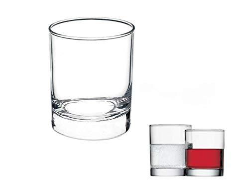 Bormioli Rocco Confezione 3 Bicchieri per Acqua Cortina in Vetro cl 25 Set CL.25 BORMIOLI, 3 pz