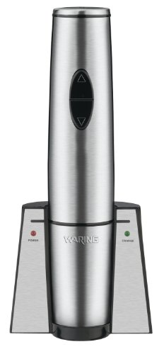 Waring Commercial WWO120 Portable Electric Wine Bottle Opener with Recharging Station