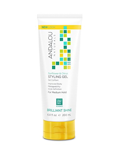 Andalou Naturals Healthy Shine Styling Gel, Sunflower & Citrus - 6.8 Oz