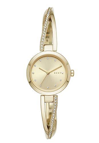 DKNY Damen-Uhren Analog Quarz One Size Gold Edelstahl 32010656