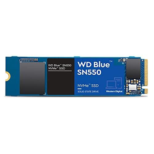 Western Digital WD SN550 500GB NVMe Internal SSD - 2400MB/s R, 1750MB/s W, (WDS500G2B0C, Blue)