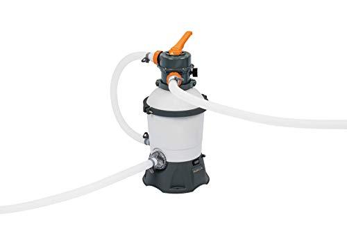 Bestway Pompa di Filtraggio a Sabbia Flowclear 58515, Portata 1100 L/H per Piscine Fuori Terra