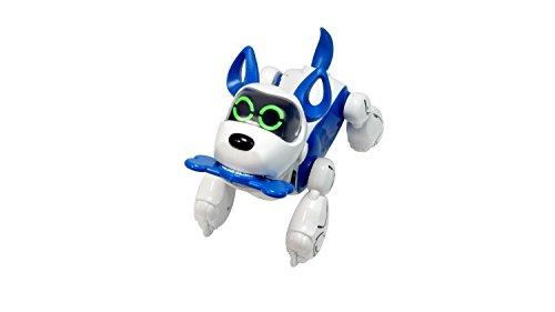 Silverlit - Robot Chien interactif à reconnaissance vocale - Train my Puppy - Pupbo Bleu