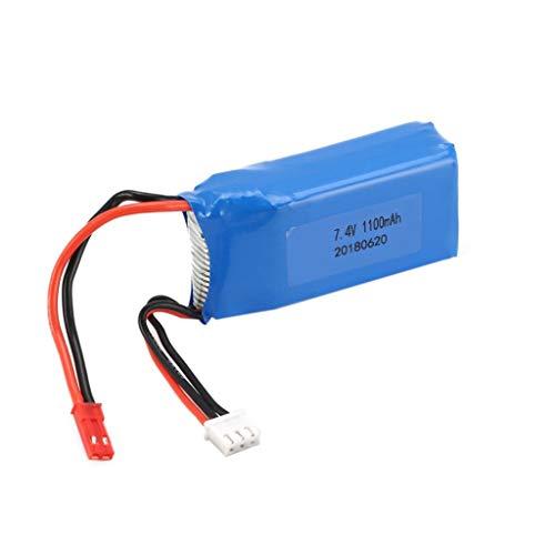 TwoCC Accessori Rc, Batteria 1100 Mah 7,4 V Rc Roche con Jst Car Plug 1/18 Rc Car per Wltoys A949...