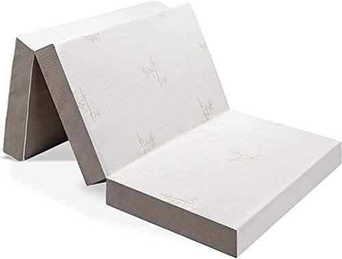 Milliard Matelas Futon D'épaisseur 15 cm Pliable en Trois Parties/Matelas D'appoint Pliant avec Une Housse Amovible Ultra-Douce et Une Base Antidérapante – Single 190 x 90 cm
