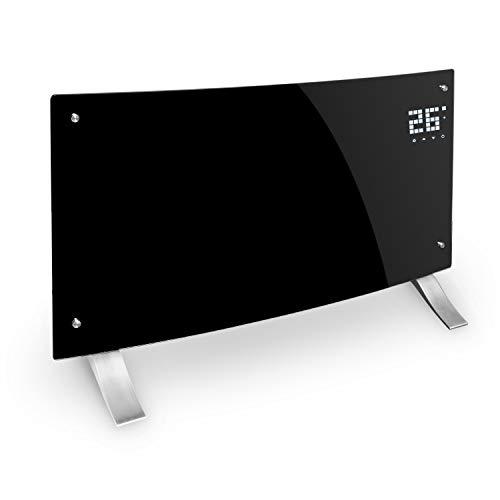 Klarstein Bornholm Curved Elektro-Heizung E-Heizung Konvektionsheizgerät Heizgerät (1000 oder 2000 Watt, 5-45°C, LED-Touch Display, ECO-Modus, 24 h Timer, Fernbedienung) schwarz