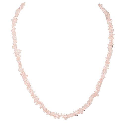 Zenergy Gems Charged 18' Rose Quartz Crystal Necklace Tumble...