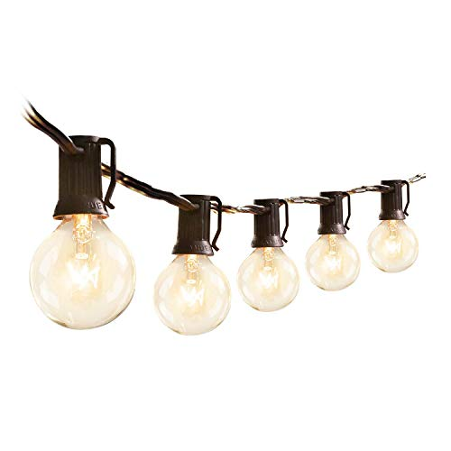 Upook Outdoor String Lights G40 Globe Patio Lights 25 Ft 27 Clear...