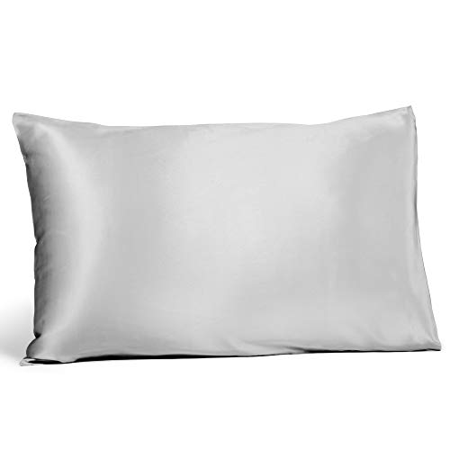 Fishers Finery 19mm 100% Pure Mulberry Silk Pillowcase, Good Housekeeping Quality Tested (Gray, K)