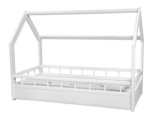 completo letto&casa+materasso PREMIUM,stile scandinavo,bambino 160x80cm+sponde (colore del letto:...