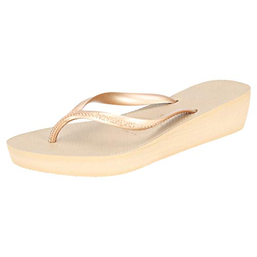 Havaianas High Light, Chanclas para Mujer, Beige (Rose Gold), 37 EU
