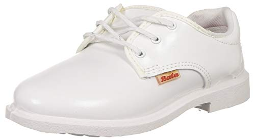 Bata Girl's NOVA Scout(W) White Uniform Dress Shoe (3211488), 13 Kids UK