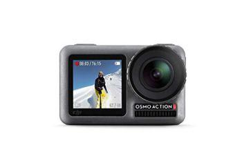 DJI Osmo Action Cam - Caméra d'Action, SnapShot, Imperméable 11M, Contrôle Vocal, Résitance à la Température, Fonctions Intuitives, Modes Personalisés, Revêtement Protecteur et Anti-Saleté