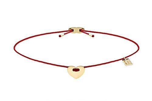 ELEA MONTECARLO Bracciale'SHAPE OF MY HEART' Collezione JDIS in tessuto Nautico con elemento 8,0 mm ca. in oro tit. 375/1000 prodotto in Italia