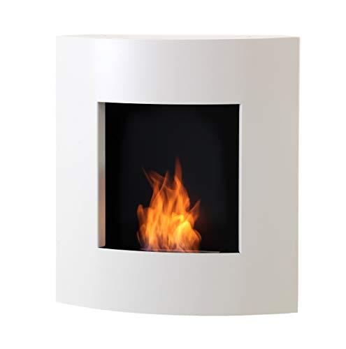 Muenkel Design Ablaze Ethanol Wall Fireplace: Pure White