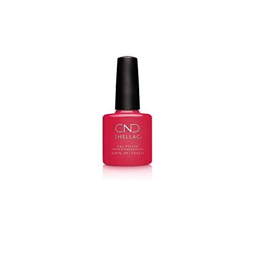 CND Shellac Gel Nail Polish, Long-lasting Color Coating NailPaint with Curve-hugging Brush. Crème Opaque Finish in Red, Lobster Roll, 0.25 fl oz