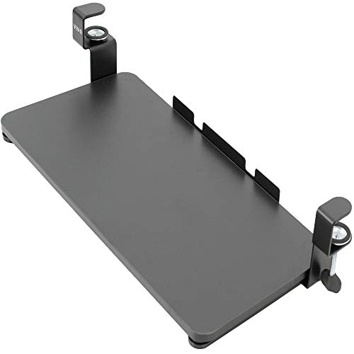 VIVO Clamp-on Computer Keyboard and Mouse Under Desk Slider Tray, 26 x 12 inch Pull Out Platform Drawer (MOUNT-KB05F)