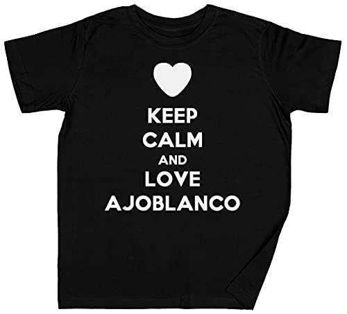 Keep Calm and Love Ajoblanco Negro Niños Chicos Chicas Cami