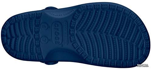 Crocs unisex adult Classic | Water Shoes Comfortable Slip on Shoes Clog, Navy, 9 Women 7 Men US