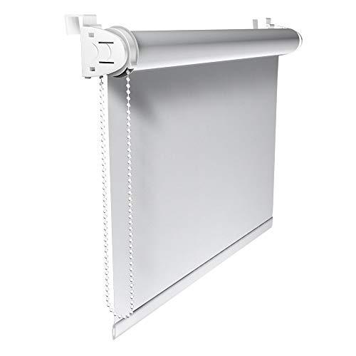 Victoria M. Tenda a Rullo Oscurante Klemmfix, Montabile Senza Fori, 45 x 150 cm, Bianco