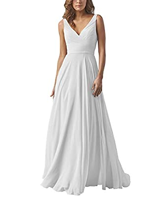 Custom made a-line chiffon v-neck chiffon ruffled long dresses bridesmaid elegant evening dress with belt simple formal party dress for wedding Please follow the size chart to select correct size The dress can be customized.But it is not returnable f...