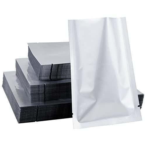 NAXIAOTIAO Resellable Zip Mylar Bolsa Almacenamiento Aluminio Bolsas De Aluminio Olorar Bolsas A Prueba De Olor 3.9X5.9 Bolsa De Papel De Aluminio De 100Pcs De Aluminio,15x22cm