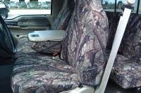 Durafit Seat Covers, Made to fit 1999-2007 F250-F550 Front 40/20/40 Split Seat Covers in Conceal Twill with Pointed Molded Headrests and Opening Console