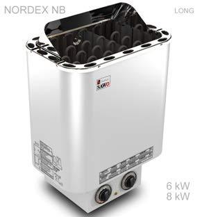 Saunaofen Nordex 9 kw mit integrierter Steuerung für 230V 1N~ oder 380V 3N~
