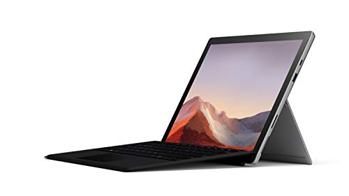 "Microsoft Surface Pro 7 12.3"" Tablet (Platinum) - Intel 10th Gen Quad Core i5, 8GB RAM, 128GB SSD, Windows 10 Home, 2019 Edition, and Black Type Cover"