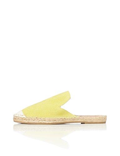 find. Alpargata Destalonada de Ante Mujer, Amarillo (Yellow), 38 EU