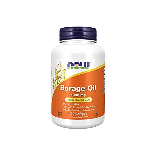 Now Foods | Borretschöl | 1000 mg | 120 Weichkapseln | glutenfrei | sojafrei