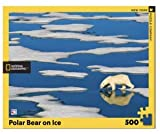 New York Puzzle Company - National Geographic Polar Bear on Ice - 500 Piece Jigsaw Puzzle