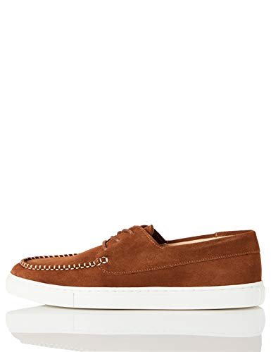 find. Cupsole Boat Shoe Náuticos, Marrón (Brown (Suede), 44 EU