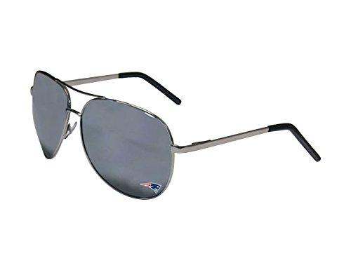 Siskiyou Sports NFL New England Patriots Aviator Sunglasses, Black / Silver