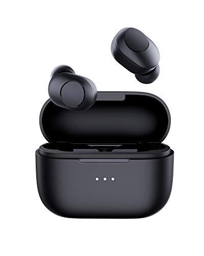 AUKEY Écouteurs Bluetooth sans Fil Lecture et Pause Automatique, Charge sans Fil et USB-C, IPX5 Étanche, Contrôle Tactile, HiFi Stéréo, 30H d'autonomie pour Les Voyages Sport Appel