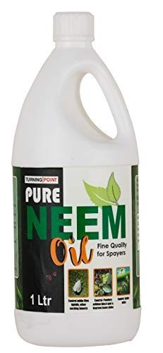 Chipku Pure Cold Pressed Water-Soluble Neem Oil for Spray on Plants and Garden (Pack of 1 Ltr, Brown)