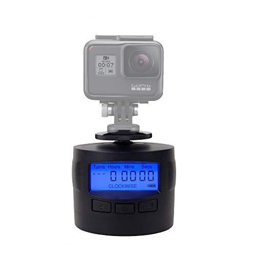 Turnspro–Supporto Time lapse per fotocamera–rotazione panoramica 360 gradiper GoPro DSLR iPhone Testa panoramica motorizzata per foto panoramiche.
