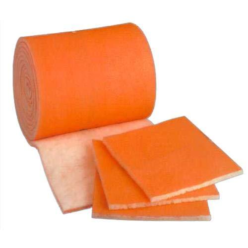 HVAC/Air Filter Media Roll, Orange/White MERV8 Polyester Media...