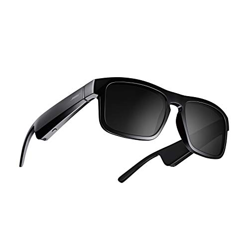 Bose Frames Tenor - Occhiali da Sole con Audio Bluetooth, Rettangolari e con Lenti Polarizzate, Nero
