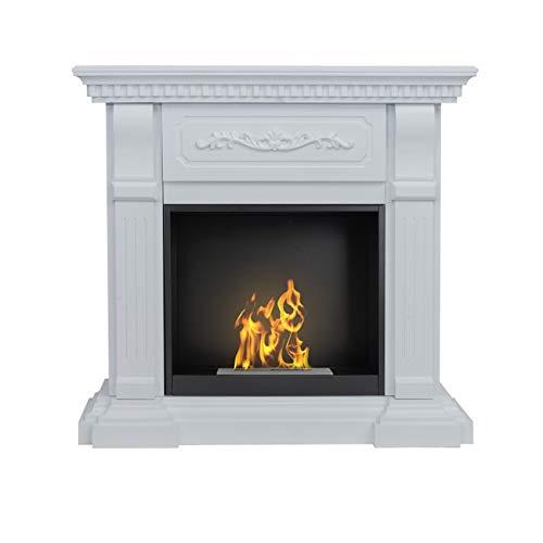 AFLAMO Bio-Fireplace Riviera With Insert Organic 60 Tüv White