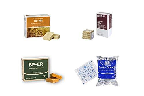 Emergency Food, Sortiment 4 x 500 Gramm, BP WR, BP ER, NRG-5, SEVEN OCEANS, Langzeitnahrung, Prepper, Bushcraft, Krisenvorsorge, Camping