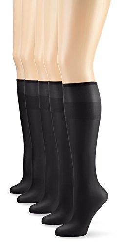Nur Die - Pack de 5 calcetines para mujeres, color negro (sc